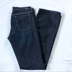 Citizens of Humanity Low Waist Bootcut Dark Jeans